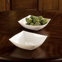 BOWL 64 OZ SQUARE SERVING WHITE PLASTIC (50)
