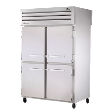 TRUE STR2R-4HS-HC SPEC SERIES Refrigerator, Reach-in, two-section, stainless steel front & sides, (4) stainless steel half doors with locks