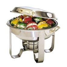 CHAFER ROUND DELUXE ABC COMPLETE W/STAND UP LID