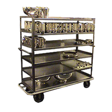 Carter-Hoffmann T660 Queen Mary China & Silver Transporter, open design, 1200 lb. weight, six shelves, shelf size 63