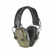 Howard Leight by Honeywell R-01526 Impact® Sport Ear Muffs, 22 dB Noise Reduction, Green, Folding Band Position, Leather Headband