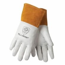 Tillman™ 30-M 30 Series Premium Grade Welding Gloves, M, Pig Skin Leather Palm, Pearl, Straight Thumb, Pig Skin Leather