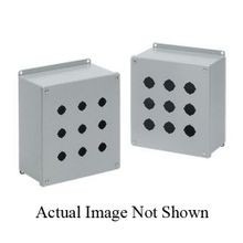 Hoffman E1PBX PB1 Extra Deep Pushbutton Enclosure, 4 in L x 4 in W x 4-3/4 in D, NEMA 12/IP65