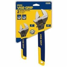 Irwin® Vise-Grip® 2078700 Professional Grade SAE/ Metric Wrench Set, 2 Piece, Polished Chrome