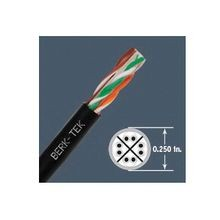 Berk-Tek® 10139885 LANMARK™-6 OSP Cat 6 Outside Plant UTP Cable, (4 Pairs) 24 AWG Bare Solid Copper Conductor, 1000 ft L