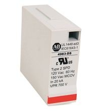 4983 Surge and Filter Protection, Din Rail Mount, UL 1449, 120V, 40kA, 4 Pole Configuration