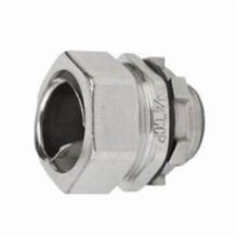 Calbrite™ S60500FCS0 Flexible Straight Liquidtight Connector, 1/2 in Trade, For Use With Bare, PVC and Clear Coated Flex Conduits, 316 Stainless Steel