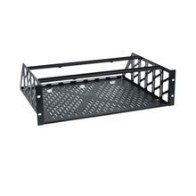Middle Atlantic® RC-3 Clamping Knockdown Rack Shelf, 5-1/4 in H x 19 in W x 15.37 in D, 3RU Rack Unit, Steel