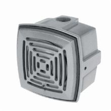 Edwards Signaling™ AdaptaHorn 876-R5 870 Grille Vibrating Horn, 240 VAC, 0.07 A, 113/103 dB, Surface Mount, Gray