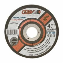CGW® 35623 Flat Depressed Center Wheel, 4-1/2 in Dia x 1/4 in THK, 5/8-11, A24N Grit, Aluminum Oxide Abrasive