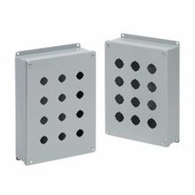 Hoffman E3PB PB1 Pushbutton Enclosure, 8 in L x 3-1/4 in W x 2-3/4 in D, NEMA 12/IP65, Steel