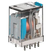 700-HC General Purpose Square w/ Blade Terminal Relay, 4PDT, 7A, Gold Contact, Low Energy Rating: (10V, 1mA), 120V 50/60Hz