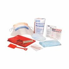 North® by Honeywell 019748-0033L Bloodborne Pathogen Response Kit, 10 Unit, White, Plastic