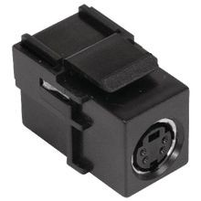 PREMISE WIRING iSTATION™ SFSVBK Standard S-Video Connector, Female to Female Threaded Connector, 24 AWG Male S-Video Plug/UTP Cable, Cat 3/5/5e/6/6a