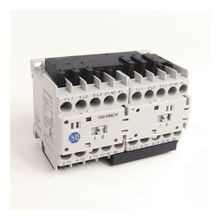 104-K Mini Reversing Contactors, Screw Type Terminals, 5 A, System Control Voltage: 110V 50Hz/120V 60Hz, 3 N.O. Main Contacts, 1 N.C. Auxiliary Contact