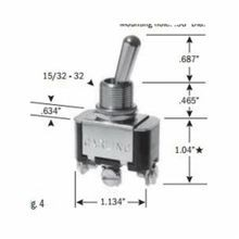 SELECTA® SS206R-BG Heavy Duty Toggle Switch, 125 VAC, 20 A, 3/4 hp, SPDT