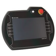 MobileView, 10 in Display, Red E-Stop, Enabling Switch, 3-Position Key Switch, Touch/Function Keys