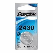 Energizer® CR2430 Coin Battery, Lithium/Manganese Dioxide, 3 VAC, 320 mAh