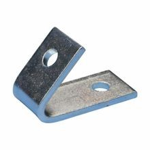 ERICO® L470450EG Closed Corner Angle Bracket, 1 Holes, 3-1/2 in L x 2-1/2 in W, Steel