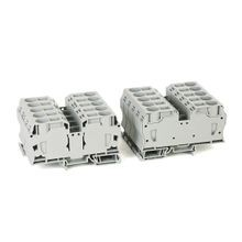 Spring Clamp Terminal Block,One-Circuit Feed-Through Block,2.5mm² (# 30 AWG - # 12 AWG),Standard Feedthrough,Gray (Standard),