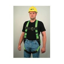 Miller® by Honeywell HP Non-Stretch Harness, 2XL, 400 lb, Green, Polyester Strap