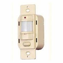 Wiring Device-Kellems WS120I WS 1-Button H-MOSS® Occupancy Sensor Switch, 120 VAC, Passive Infrared Sensor, 900 sq-ft Coverage, 180 deg, Wall Mount