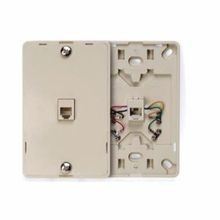 Leviton® 80781-00I Telephone Wall Jack, 1 Gangs, Surface Mount