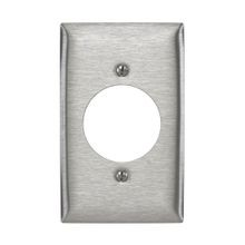 Bryant Electric SS725 Standard Wallplate, 1 Gangs, 4.5 in H x 2.87 in W, 302/304 Stainless Steel