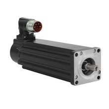 VPL Low Inertia Motors, 240V AC, 63mm Bolt Circle Frame Size, 2 (Two) Magnet Stacks, F Winding, 4500 RPM Rated Speed, 18 bit Single-turn and 12 bit Multi-turn Digital High Resolution Encoder, SpeedTec Right Angle DIN Connector, 325° rotatable