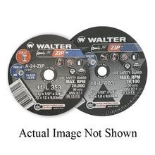 Walter ZIP™ 11-L 302 Type 1 Cut-Off Wheel, 3 in Dia x 1/32 in THK, 1/4 in, 60 Grit, Aluminum Oxide Abrasive