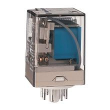 700-HA General Purpose Tube Base Relay, 10 Amp Contact, 3PDT, 120V 50/60Hz, Push-To-Test & Manual Override function and Pilot Light