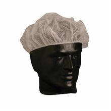 PIP® 200-BC18 Disposable Bouffant Cap, SZ 1, 18 in Dia, White, Polypropylene