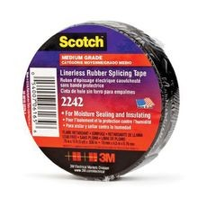 3M™ 2242 Splicing Tape, 15 ft L x 1-1/2 in W x 30 mil THK, Rubber, Black