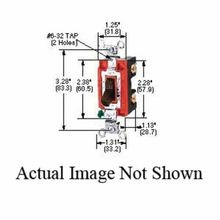 Wiring Device-Kellems CS1224GY 4-Way General Purpose AC Heavy Duty Toggle Switch, 120/277 VAC, 20 A
