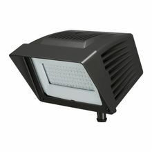 Atlas® PFMXW64LED Alpha Extra Wide Distribution Flood Light Fixture,) LED Lamp, 64 W Fixture, 120 to 277 VAC, Black Housing