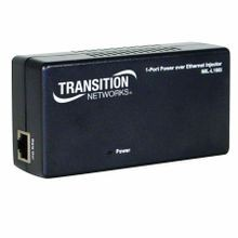 Transition Networks® MIL-L100i PoE Mid Span Injector, 0.3 A/ 100 to 240 VAC at 60 Hz Input/300 mA/48 VDC Output