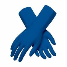PIP® Ambi-Thix™ 62-327PF-XL Extra Thick Disposable Gloves, XL, Blue, Ambidextrous, Natural Latex Rubber
