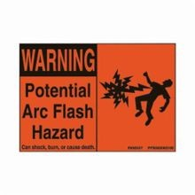 Panduit® PPS0305W2100 Basic Pre-Printed Arc Flash Label, Polyester