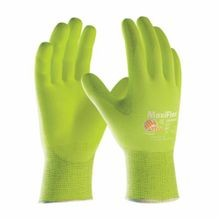 PIP® MaxiFlex® Ultimate 34-874FY-L Breathable Coated Gloves, L, Foam Nitrile Palm, Hi-Viz Yellow, Seamless