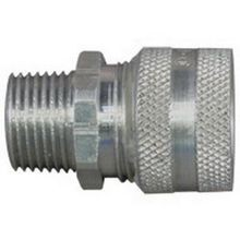 Appleton® CG-3138 Strain Relief Straight Cord Connector, 3/8 in Trade, 5/16 to 7/16 in Cable Openings, Aluminum, Natural