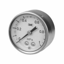 SMC® G43 Pressure Gauge, 0.2 MPa/30 psi, 1/8 in MNPT, 43 mm Dial