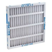 Purolator™ Key Pleat™ 5251083881 Self-Supported Pleated Air Filter, 24 in H x 12 in W x 1 in D, MERV 8
