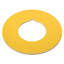 800T Legend Plate,Emerg. Stop IEC Ring, Package Quantity 1 ,Yellow