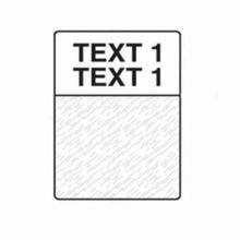 Brady® M-51-427 Label Maker Cartridge, 2-1/2 in L x 1 in W, Vinyl, Black on Clear/White, For Use With BMP41, BMP51, BMP53 Printer