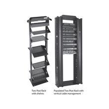 Hoffman EDR19FM38U 2-Post Open Frame Rack, 72 in H x 15 in W x 20-1/4 in D, 1000 lb