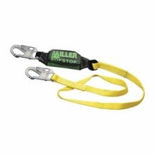 Miller® by Honeywell 913WLS/6FTYL Web Lanyard, 310 lb, 6 ft Working, 9-1/2 ft Extended L, 1 Legs, Snap Hook Anchorage Connection, Yellow