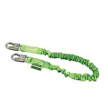 Miller® by Honeywell Manyard® II 231M-Z7/6FTGN Stretchable Shock Absorbing Lanyard with Aluminum Connectors, 310 lb Load
