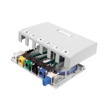 PREMISE WIRING ISB6W 6-Port iSTATION™ Surface Mount Box, For Use With XCELERATOR™ Keystone Modules, iSTATION™ Audio/Video Keystone Modules, Thermoplastic, White