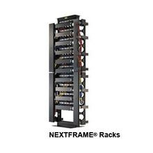 PREMISE WIRING NEXTFRAME® HPW84RR19D 45RU Equipment Relay Rack, 84 in H x 20-1/4 in W x 17-3/4 in D, 1000/500 lb