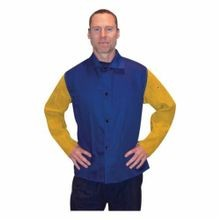 Tillman™ 9230-XL Unlined Welding Jacket, XL, 40 to 42 in Chest, Royal Blue, Westex® FR7A® Cotton
